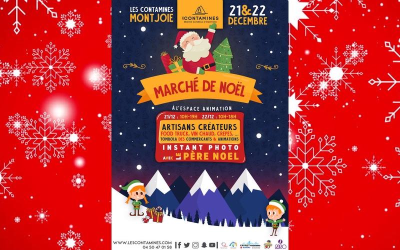 Nansca au Marché de Noël des Contamines-Montjoie les 21 et 22 décembre