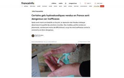 Certains gels hydroalcooliques vendus en France sont dangereux